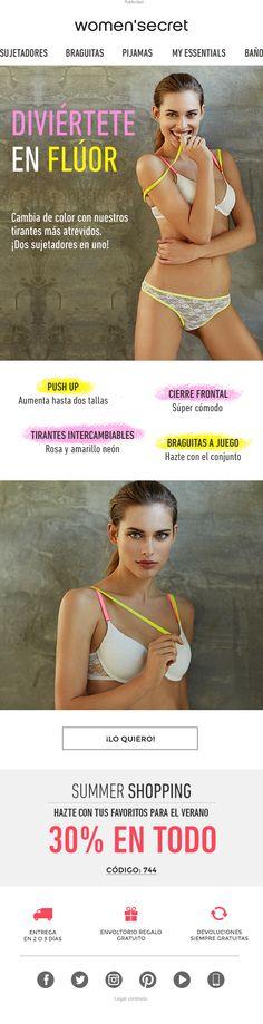 Two bras in one newsletter. Women'secret