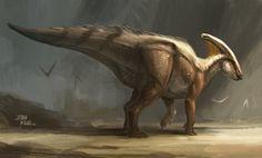 Parasaurolophus, Jonathan Kuo on ArtStation at https://www.artstation.com/artwork/q9Kgn