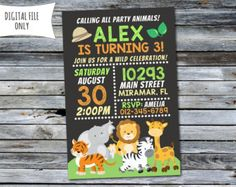 twine idea initial animal party invitations in 2018 pinterest