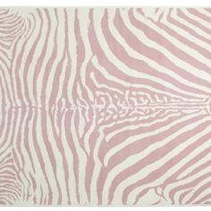 alfombra acrilica  zebra rosa imagen .http://www.bebeydecoracion.com/