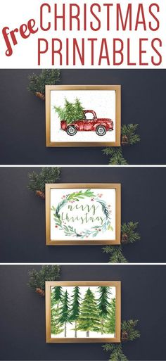 WOW! These are some of the most gorgeous free Christmas printables I have seen! I love, love, love chalkboard printables and the watercolor Christmas printables are gorgeous too!