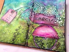 Bicycle Flower Cart Art Journal – Mixed Media Art Tutorials