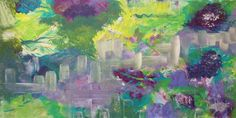 Abstract Painting original acrylic 10 x 20. A SUNDAY FEELING on Etsy, $125.00