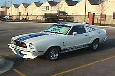 74 Cobra Mustang. I can remember being three years old cruising around in this car with my mom. I thought I was so cool with Heart blaring on the radio.