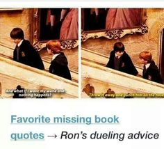 LOL, What amazing advice Mr Weasley