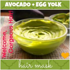 Avocado Egg Yolk Hair Mask for Volume, Growth & Conditioning