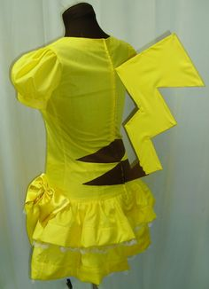 Pokemon Pikachu Lolita Cosplay Costume Size 4 6 8 10 by AGypsyRed, $150.00 (If you have seen my Sailor Moon board with the costumes there, this is made by the same person as most of the ones I liked!)