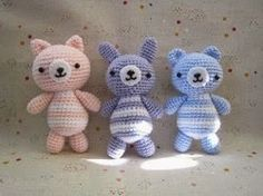 2000 Free Amigurumi Patterns: Bear, bunny and cat amigurumi pattern