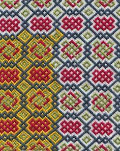 Medieval Arts & Crafts: brick stitch