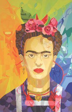 Frida, por Lourdes Villagómez. Serie: Crucigramas del folklor mexicano. [http://culturacolectiva.com/lourdes-villagome-crucigramas-del-folklor-mexicano/]