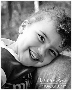 Black & White / Children Photography -  Happy Girl
