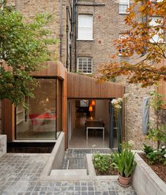 House with Annex Wood Paneling Concrete Stair Garden on Levels- British Architecture, London Architecture, Interior Architecture, Classical Architecture, Ancient Architecture, Sustainable Architecture, Landscape Architecture, Interior Design, House With Annex