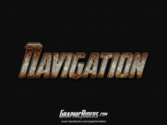 GraphicRiders   Action style – Navigation (free photoshop layer style - text effect, free psd file)