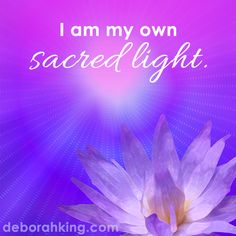 "Inspirational Quote: ""I am my own sacred light. Positive Words, Positive Vibes, Motivational Words, Inspirational Quotes, Positive Affirmations, Healing Affirmations, Spiritual Growth, Inner Peace, Spiritual Awakening"