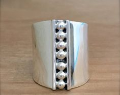 SALE TODAY Sterling Silver Wide Ring Cuff Ring Large Silver