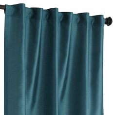 "Hamilton Rod Pocket Curtain - Teal 108"" $39.96"