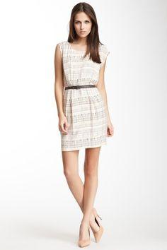 Belted Print Dress.