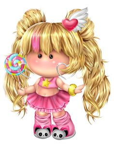 Стоковая иллюстрация «Cute Little Girl Lollipop Childrens Character Baby Food Jar Crafts, Bottle Cap Images, Cute Cartoon Wallpapers, Cute Images, Cute Dolls, Pictures To Draw, Cute Illustration, Cute Drawings, Magnolias
