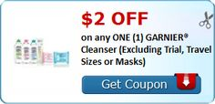 New #Coupon!  $2.00 OFF on any ONE (1) GARNIER® Cleanser (Excluding Trial, Travel Sizes or Masks)! - http://www.stacyssavings.com/new-coupon-2-00-off-on-any-one-1-garnier-cleanser-excluding-trial-travel-sizes-or-masks/
