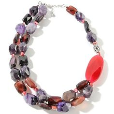 Studio Barse Multigemstone and Amethyst Asymmetrical Necklace at HSN.com