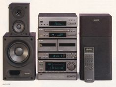 Sony 1992 Audiophile Speakers, Hifi Audio, Audio Speakers, Hi Fi System, Audio System, Sony, Home Theater Rooms, Tape Recorder, Loudspeaker