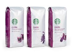 Packaging of the World: Creative Package Design Archive and Gallery: Starbucks Blonde Roast Label Design, Package Design, Graphic Design, Starbucks Coffee Beans, Italian Roast, Brand Architecture, Coffee Mix, Coffee Packaging, Coffee Design