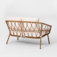 Wicker Patio Furniture, Wood Patio, Backyard Furniture, Cane Furniture, Outdoor Seating, Outdoor Sofa, Outdoor Decor, Outdoor Ideas, Outdoor Spaces