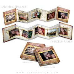 Photo Book Template 3x3 Accordion Mini Victorian Garden