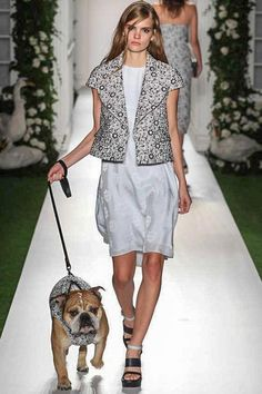 And why shouldn't there be a dog on the catwalk? Mulberry review just in at nakedfashions.com