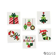 More Fun Christmas Glitter Tattoos from Oriental Trading