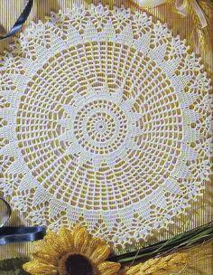 Crochet Art: Crochet Lace Doily Pattern - Beautiful Lace Doily