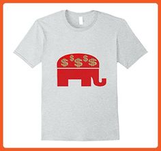 Mens Red Republican Elephant with Dollar Signs $ Money Political XL Heather Grey - Animal shirts (*Partner-Link)