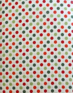 Cotton Fabric, Quilt, Home Decor, Craft, Christmas, Spot on , Holiday by Robert Kaufman, Red and Green Dots, Fast Shipping