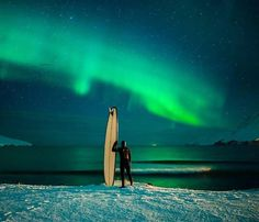 Surfing under the Northern lights | Iceland | Chris Burkard Photography Say Yes To Adventure