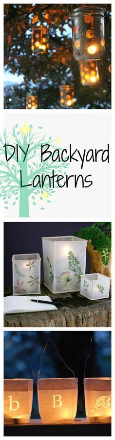 When the sun goes down, let these gorgeous and easy-to-make DIY lanterns shine.
