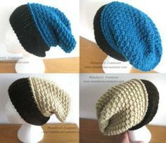 Finally! The long over due tutorial for the Moss Stitch Slouch hat. If you ever tried the Moss Stitch beanie but found the colors to dark to follow, well try this new version in HD!written pattern Moss Stitch Slouch Hat - Meladora's Creations Free Crochet Patterns & Tutorials