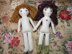 Handmade doll pattern. Print at 150% for bigger doll and clothes.