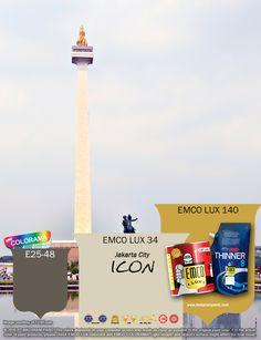 Kawan EMCO, Tugu Monas memang luar biasa dan menjadi kebanggaan kita semua. Terinspirasi keindahan kemegahan Tugu Monas dan tamannya yang asri dan hijau, sempurnakan hunian Anda dengan warna EMCO LUX 34, EMCO LUX 140 dan E25-48 pada palet EMCO. Untuk membaca artikel menarik lainnya kunjungi kami di http://matarampaint.co/news.php.