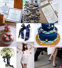 Nautical inspired wedding theme
