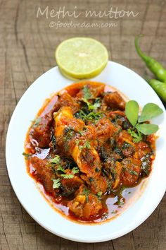 Maharashtrian goat curry mutton curry tambda rassa recipes methi mutton is very tasty and easy recipe in which tender goat meat is cooked with fresh fenugreek or methi leavesding garam masala is optional forumfinder Images