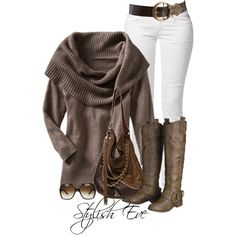 """aml"" by stylish-eve on Polyvore. Not so much the white pants but still cute"