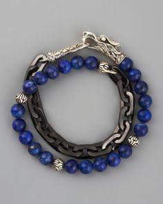 Naga Lapis & Chain Wrap Bracelet by John Hardy at Neiman Marcus.