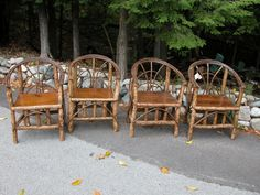 Rustic craftsman chair set: Christibys SOLD
