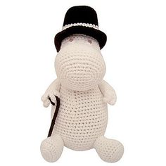 Based on the Tove Jansson Moomin character the Moomin Crochet Moominpappa by Disaster Designs is a wonderfully iconic soft toy that will charm both adults and children alike Cute Crochet, Crochet Toys, Knit Crochet, Disaster Designs, Tove Jansson, Handmade Toys, Baby Knitting, Gifts For Kids, Crochet Patterns
