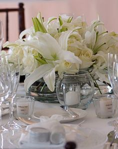 Lily and Rose Centerpiece