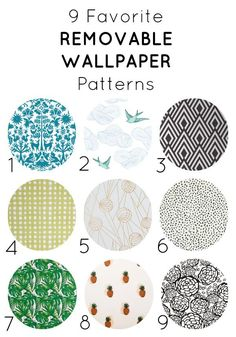 favorite removable wallpaper patterns