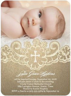 Laced Treasure - #Baptism, Christening #Invitations - Coloring Cricket in Walnut Brown