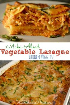 Easy Vegetable Lasagne Recipe is the BEST and tastiest veggie lasagne out there! Hidden veggie lasagne is perfect for kids and picky eaters. Healthy and low calorie lasagne. Vegetable Lasagne, Veggie Lasagna, Veggie Recipes, Dinner Recipes, Healthy Recipes, Dinner Ideas, Simple Recipes, Veggie Food, Food Food