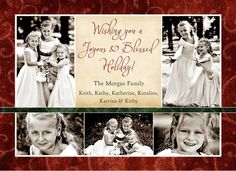 """""""Wishing you a Joyous & Blessed Holiday!"""" This joyous & blessed holiday multi-photo card design uses of your photos, sharing a beautiful collage with your loved ones. Christian Christmas Cards, Beautiful Collage, Multi Photo, Photo Cards, Family Photos, Your Photos, Photo Ideas, First Love, Blessed"""