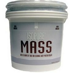 Nature's Best Isopure Mass, Chocolate, 7-Pound Tub by Nature's Best. $74.90. Description:A state of the art weight gainer loaded with 53 grams of 100% Ion Exchange whey protein isolate, 86g carbs, 4g fiber and only 3 grams of sugar. Packed with BCAA's and glutamine. It's not too sweet, or thick, and won't upset your stomach. Lactose free and Trans Fat free.The Inside Scoop:Weight GainerNutrition Facts:Serving Size (scoops) 6Servings Per 20Calories 600Fat Calories 45Total F...